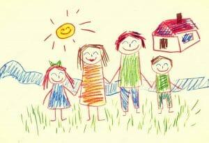 Analisis de dibujo que representa felicidad