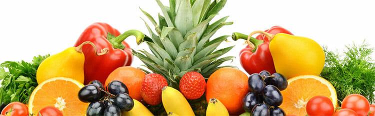 Frutas en el método del plato
