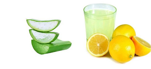 Limón y aloe vera para quitar las estrías