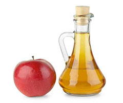 Uñas fuertes con vinagre de manzana