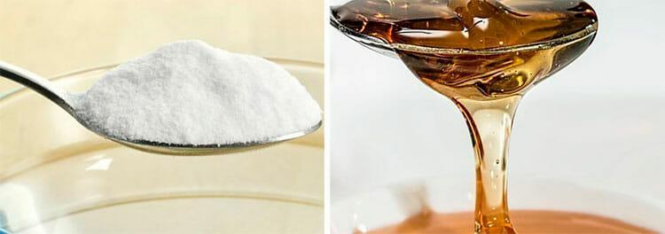 Bicarbonato y miel para desmaquillar