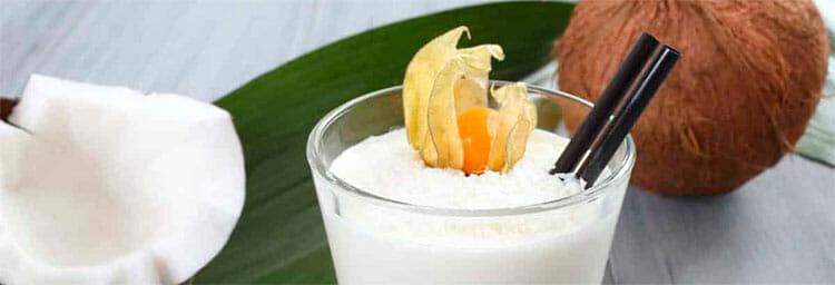 Mascarilla reparadora de miel y leche de coco