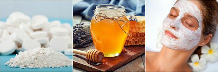 Mascarilla de miel y aspirina