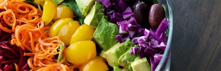 Menús basados en la dieta de los colores