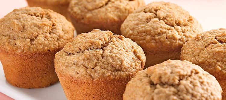 Receta de muffin de harina de avena y plátano