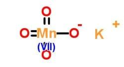 Fórmula del permanganato de potasio
