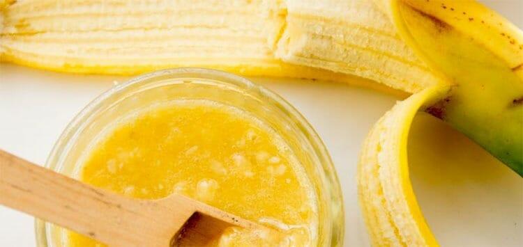 Plátano y miel: mascarilla para cabello seco