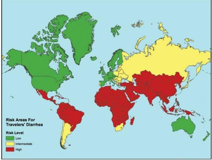 Factores de riesgo de la diarrea del viajero