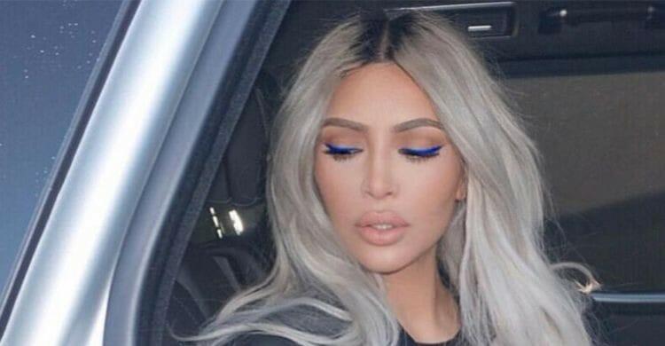 Kim Kardashian y su pelo ceniza