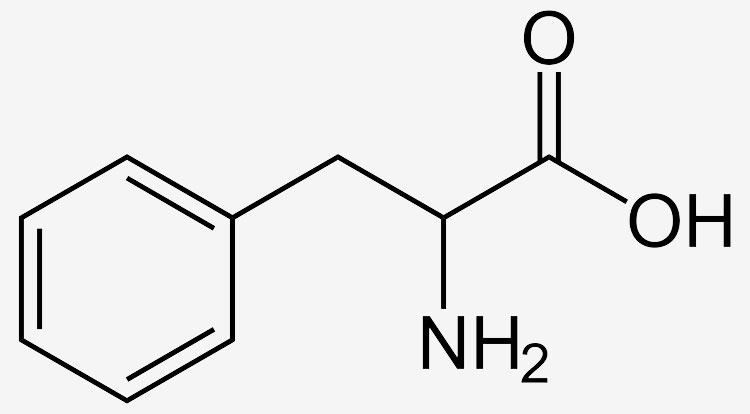 Fórmula de la fenilalanina