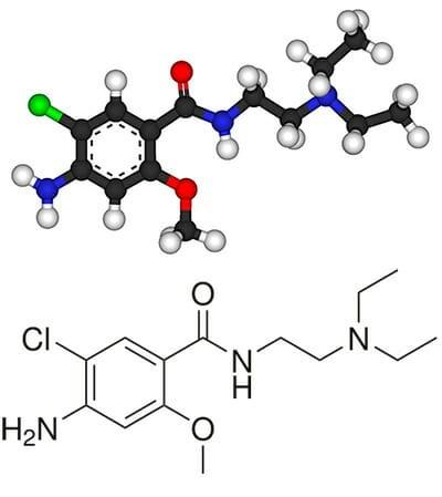 Fórmula de la metoclopramida
