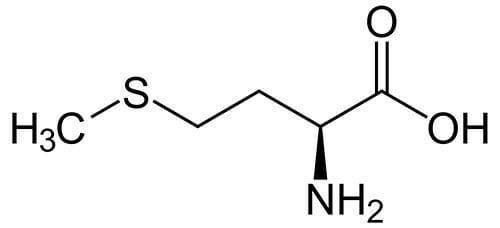 Estructura química de Metionina