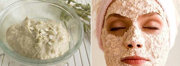 Mascarilla de yogur y avena para la cara